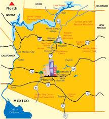 map of az arizona map state of arizona maps az destinations