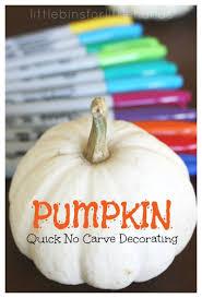pumpkin decorating idea no carve pumpkin for kids