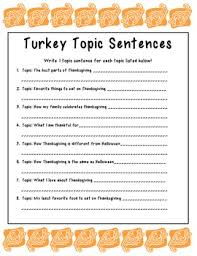 this is an activity for generating topic sentences from a given