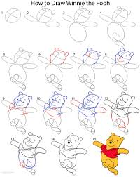 how to draw winnie the pooh step by step drawing tutorial with