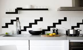 black and white tiles in kitchen black and white kitchen wall