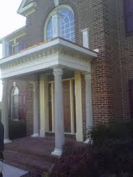 front entry portico in scotch plains nj contemporary veranda
