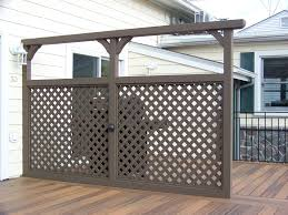 custom cedar deck privacy divider with lattice outdoor