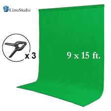 amazon com limostudio 9 x 15 ft green chromakey muslin backdrop