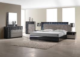 Italian Bedroom Sets Sale 3123 00 Roma Black And Grey Lacquer 5 Pc Bedroom Set Bed