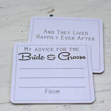 and groom advice cards advice for and groom wedding gallery