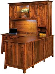 L Desk With Hutch Dresden L Shaped Desk With Hutch Countryside Amish Furniture
