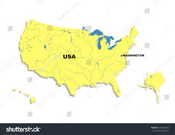 United State Of America Map by Simple Map United States America Stock Illustration 149323967