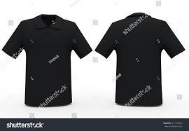 3d black color sport shirts front stock illustration 151135574