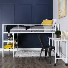 amazon com we furniture twin low loft metal bed white kitchen