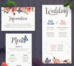 wedding program design template wedding program templates