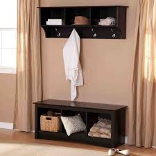 hall tree coat rack storage bench entry with on modern home