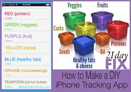 healthy colors how to make your own 21 day fix tracker app use iphone reminders