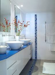 Blue And Brown Bathroom by Black White Blue Bathroom