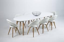 Table De Cuisine En Verre Avec Rallonge by Table Bois Blanc Avec Rallonge Grande Table A Manger Moderne