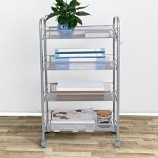 Bathroom Storage Cart Narrow Rolling Bathroom Cart Wayfair
