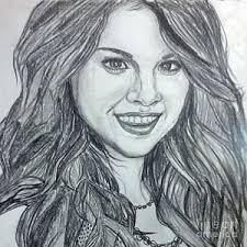 selena gomez drawing prints fine art america