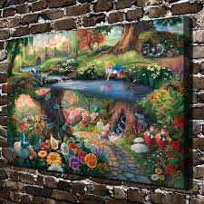 aliexpress com buy h1387 thomas kinkade princess elves fairy hd