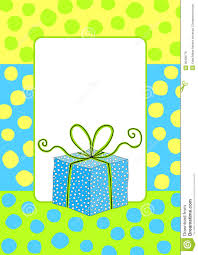 Birthday Cards Invitation Birthday Card Invitation With A Gift Box Royalty Free Stock Images