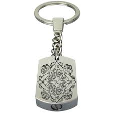 celtic letter initial urn keyring keychain memorial ash cremation