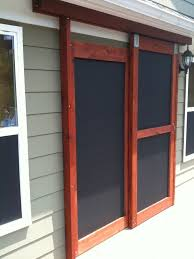 Sliding French Patio Doors With Screens Screened Door U0026 Screen Tight 36 In X 80 In Prairie View Solid