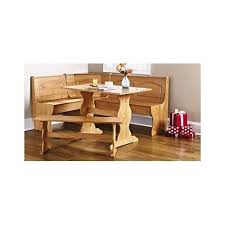 Kitchen Booth Table Sets by Pine Breakfast Nook Wooden Corner Table Dining Farm Bench Compact