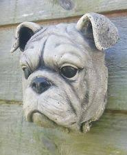 bulldog garden ornament ebay