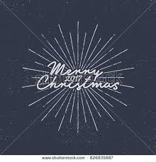 And New Year Holidays In The Sun Merry 2017 Lettering Typography Stock