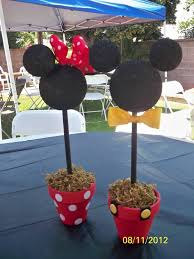 How To Make Ribbon Topiary Centerpieces by Best 25 Mickey Minnie Centerpieces Ideas On Pinterest Minnie