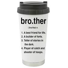brother definition best friend family travel mug tumbler