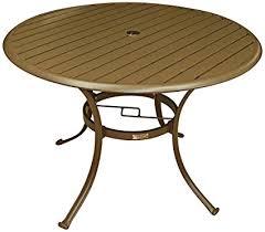 42 Patio Table Panama Outdoor Island Slatted Aluminum