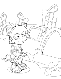 skeleton coloring page handipoints