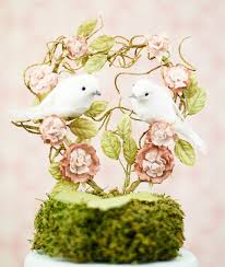 birds wedding cake toppers you landed on my heart dove wedding cake topper wedding