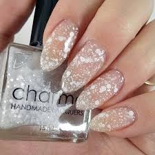 whitehall handmade indie sheer white jelly glitter topper nail