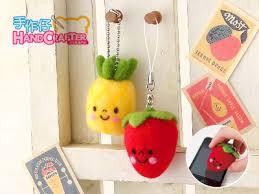 felt kits felting cleaner series diy handmade strawberry and pineapple
