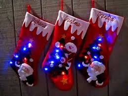 light up xmas pictures light up christmas stockings with led lights youtube