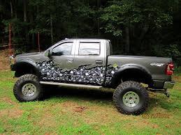 Ford F 150 Camo Truck Wraps - full color half car vinyl graphics xtreme digital graphix