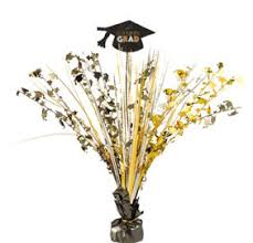 black and gold centerpieces black gold silver graduation party supplies party city