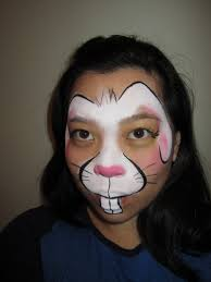 Beautiful Painting Designs by Coloring Page Beautiful Painted Bunny Faces Face Painting
