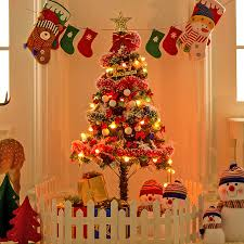 150cm new year artificial christmas tree with ornaments toys
