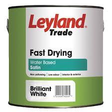 Exterior Metal Paint - leyland trade interior u0026 exterior white satin wood u0026 metal paint