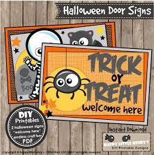 halloween door sign instant download diy craft projects party
