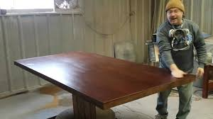 refinishing a mahogany dining table at timessless arts refinishing