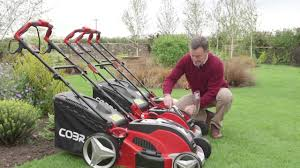 review new easy to use cordless lawnmowers from cobra garden