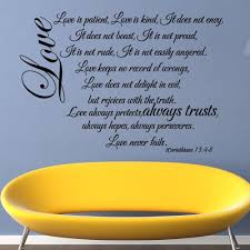 20 best collection of love is patient love is kind wall art wall wall art stickers picture more detailed picture about love is inside love is patient love
