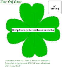 4 leaf clover template four leaf clover