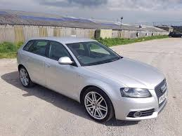 2008 audi a3 2 0 tdi s line 5 door hatchback silver 140 bhp in