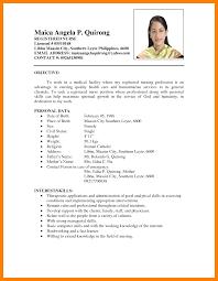 Resume Sample Format Nurse by Resume Example Pinoy Resume Ixiplay Free Resume Samples
