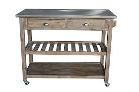 furniture metropolitan wire and maple butcher block cart for