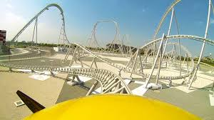 roller coaster abu dhabi speed flying aces roller coaster front seat abu dhabi